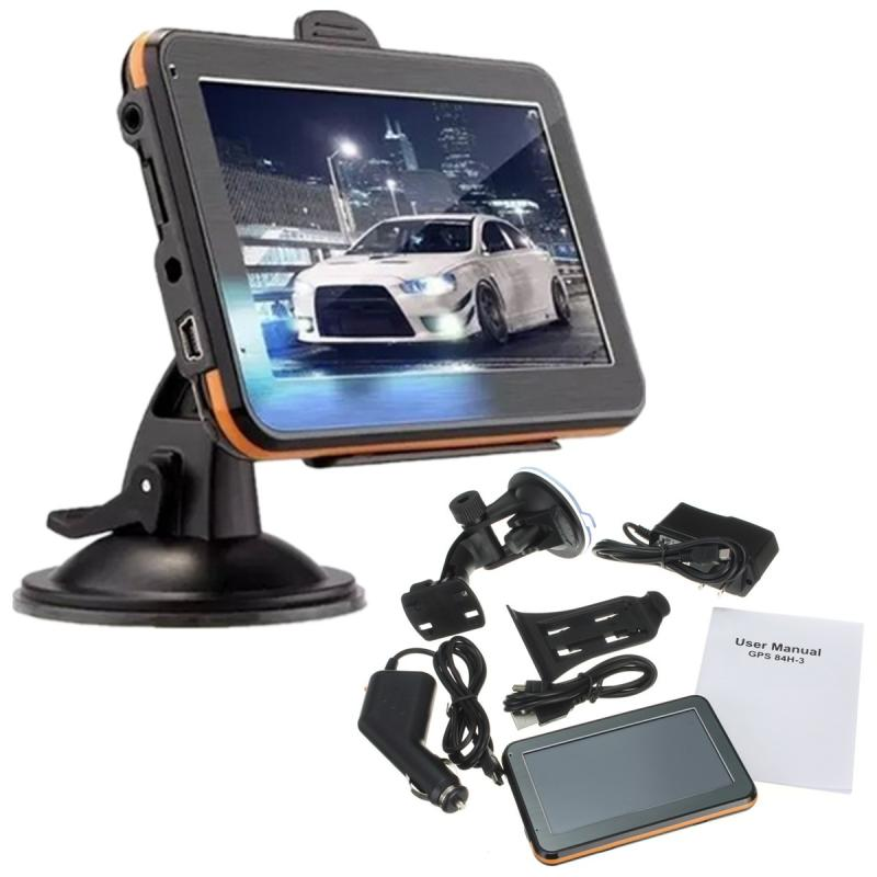 Car 4.3 Sat Nav T ouch Screen GPS Navigation Navigator FM 4GB + Europe Map 7 0 touch screen wince 6 0 mtk3351 gps navigator with fm 4gb tf card w europe map black