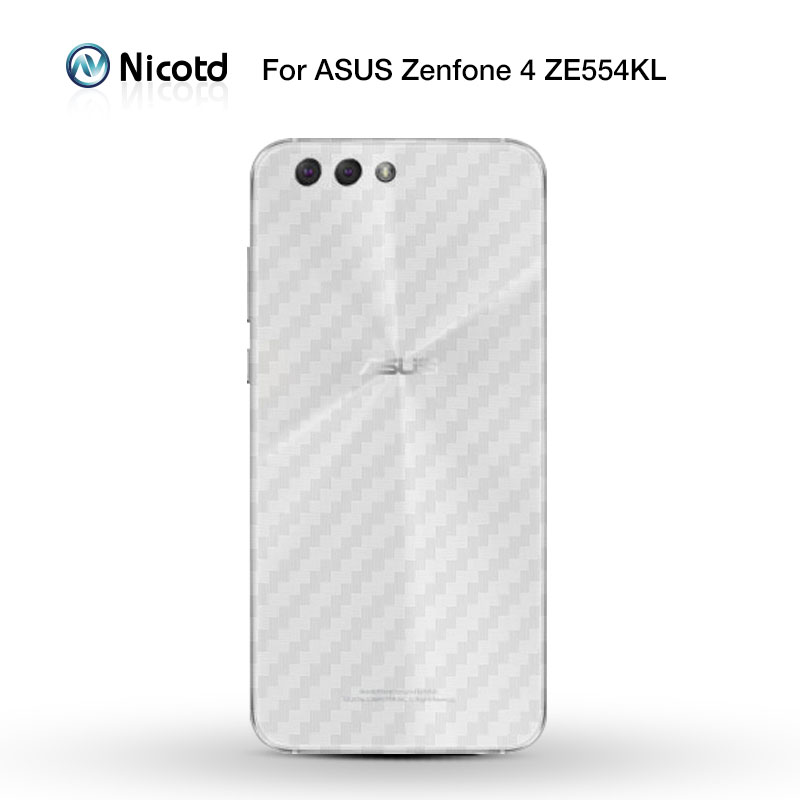 Nicotd Carbon-Fiber Screen-Protector Asus Zenfone ZE554KL ZS551KL Back-Film Plus