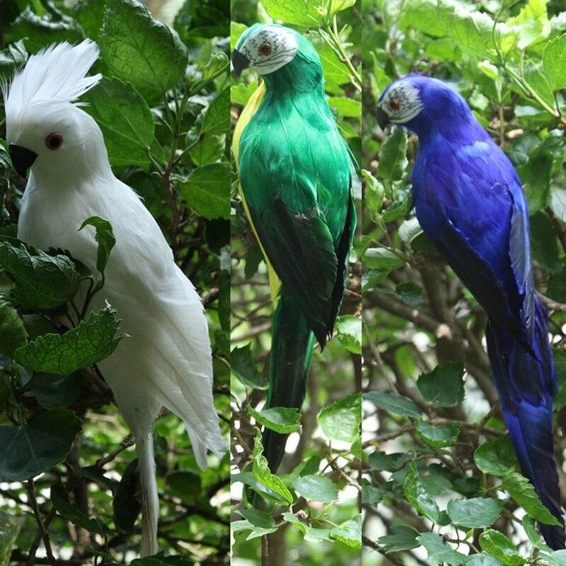Garden Simulation Parrot Emulational Parrot For Show Window Gardening Decorative Bird Garden Craftwork Decoration
