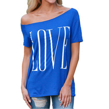 New Hot Sale Sexy Women Summer Love Loose Top Short Sleeve Tops Ladies Casual T-Shirt