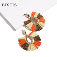 Big Tassel Earrings For Women Drop Fringed Earrings Female 2019 Fashion Jewelry Colorful Pendientes Statement Jewelry(China)