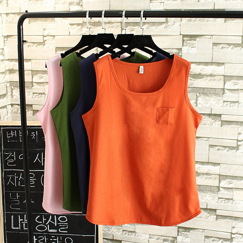 2017 New Summer Tops Women Plus Size 3XL Casual Loose Tops Tees Cotton and Linen Tank Tops Big Size Girls Tops TY1559