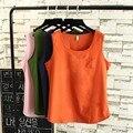 2016 nueva Summer Tops mujeres más el tamaño 3XL ocasional flojo Tops camisetas de algodón y lino Tops gran tamaño las tapas TY1559