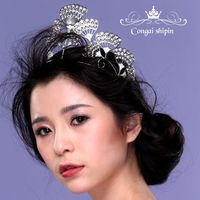 Wholesale Jewelry Wedding Bride Crown Hoop Rhinestone Tiara Wedding Ring Round Crown Hair Accessories Accessories