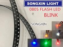1000pcs 0805 Flash LED SMD Diodes Warm White RED Blue Green Yellow Orange RGB Light Emitting Diod Alto 0805 Blink Color Change