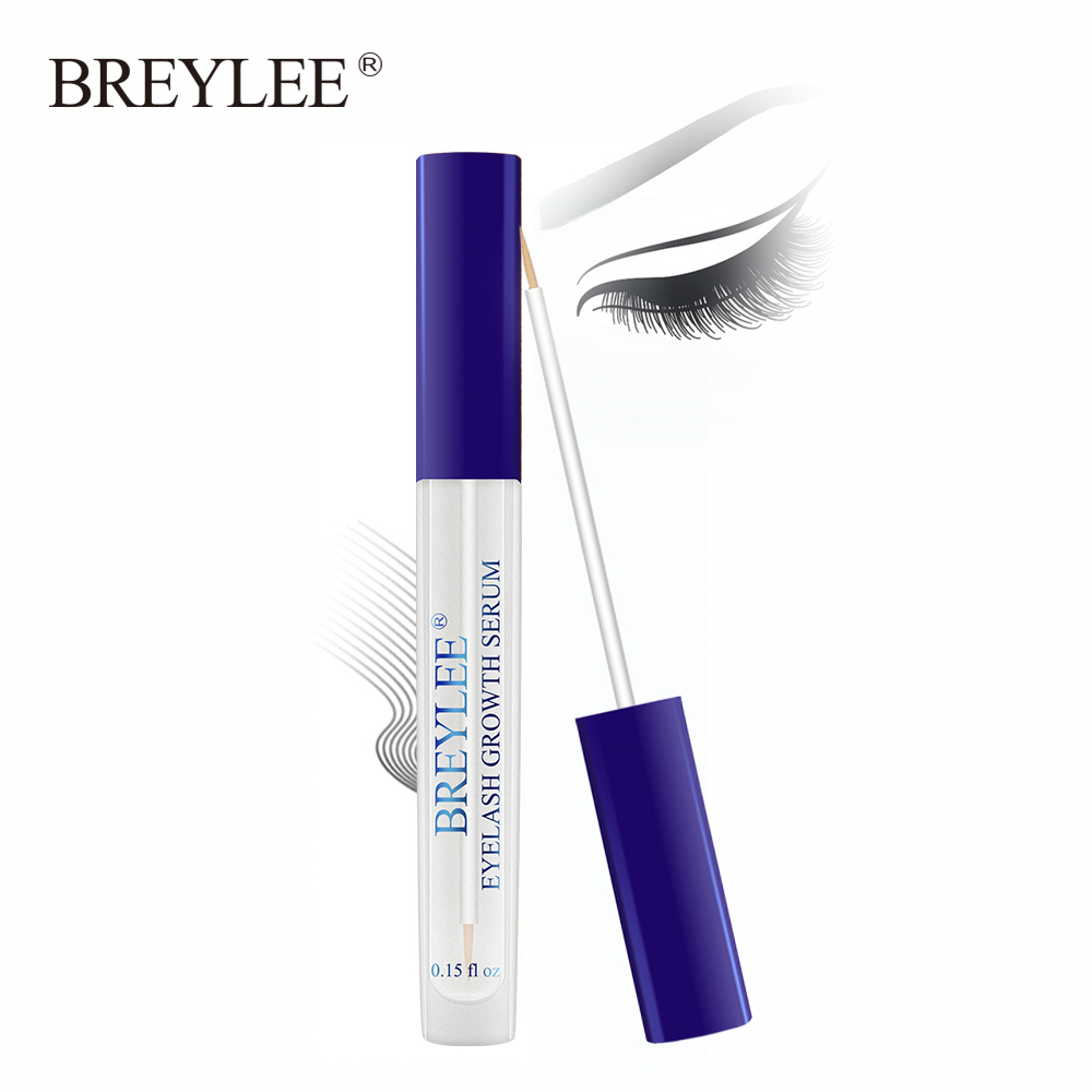 BREYLEE Eyelash Growth Serum New Style Eyelash Enhancer Eye Lash Treatment Liquid Longer Fuller Thicker Eyelash Extension Makeup liphop professional women makeup brand powerful eyelash growth treatment liquid serum enhancer eye lash longer thicker 7 15 days