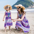 Beach Family Style Set Bohemian Off Shoulder Mother Daughter Dress Mom and Daughter Dresses Clothes Family Clothing Summer GS8
