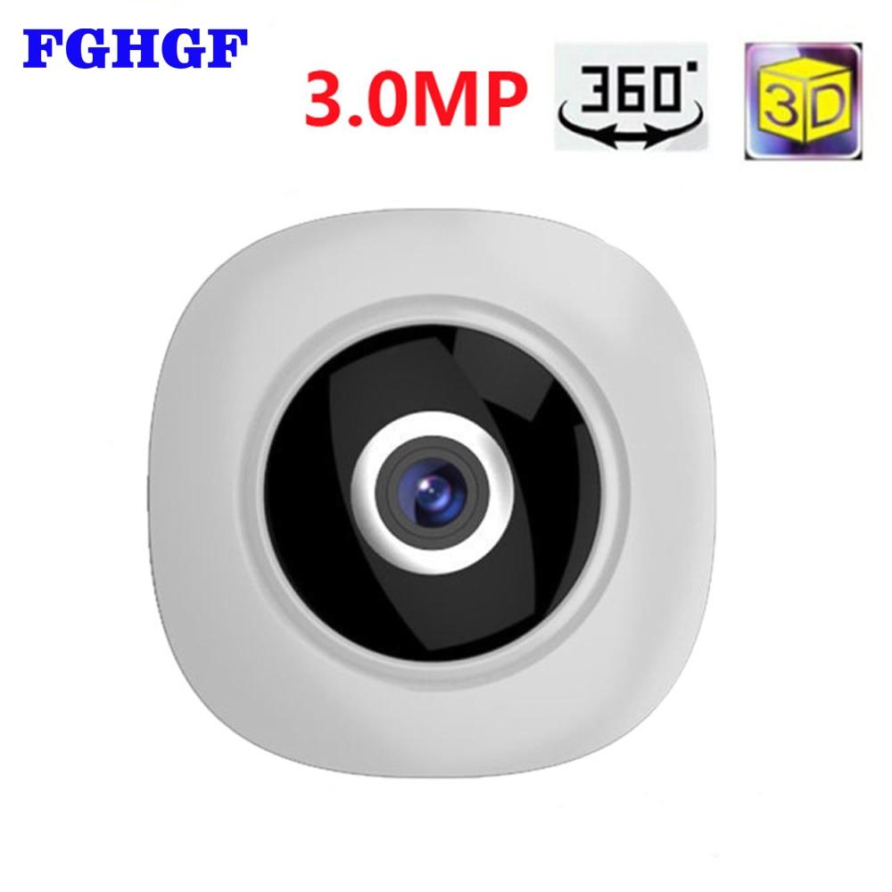 FGHGF 360 Degree Wi-fi IP Camera FishEye HD 3.0MP Smart Panoramic IPC P2P Wireless IP Fisheye Camera 3MP Security Wifi Camera 960p 1 3mp 360 degree panorama camera wireless intercom ip camera