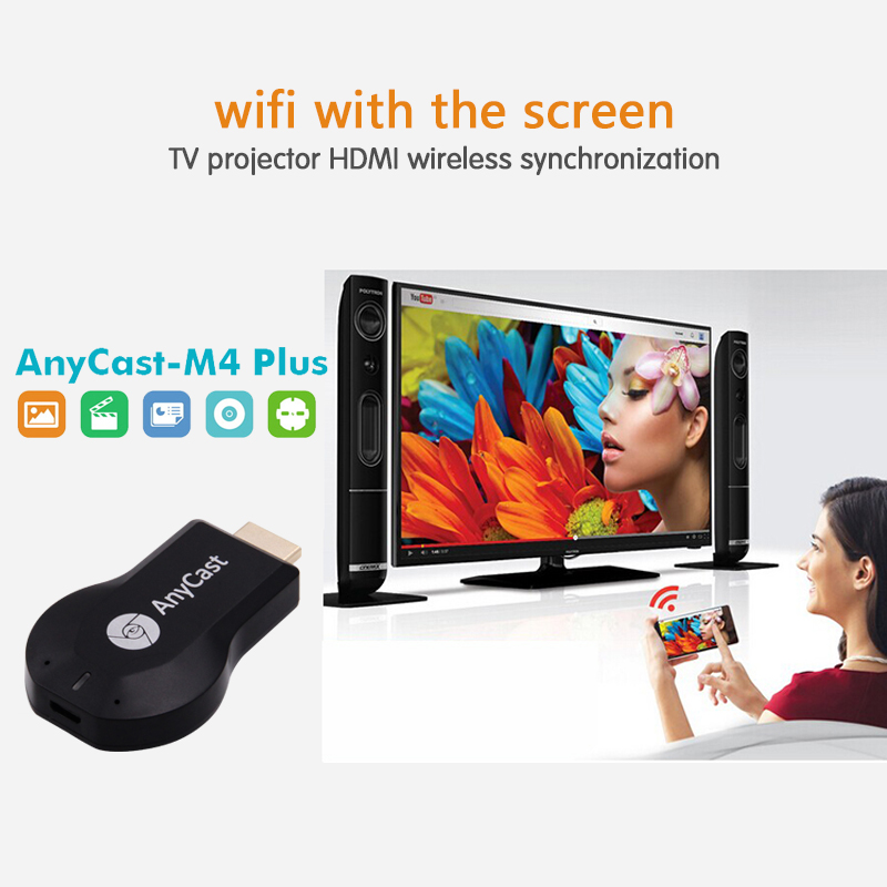 Tragbare Anycast M4 plus vernickelung Mini PC Android Guss HDMI WiFi Dongle 2 mirroring mehrere TV stick Adapter
