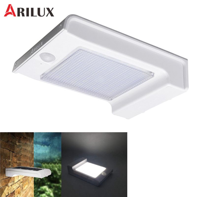 ARILUX 72 LED Solar PIR Motion Sensor Light Waterproof Outdoor 3 Modes Wall Light Yard Garden Night Light Security Street Lamp arilux 4 4w 100 led solar wall lamp light pir motion sensor outdoor waterproof garden security street light with 3 modes