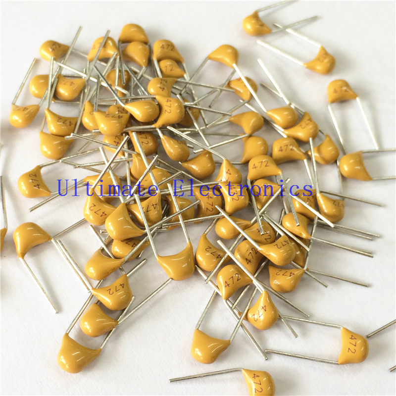 100pcs/lot  Multilayer Ceramic Capacitor 472 50V 4.7nF 472M P=5.08mm