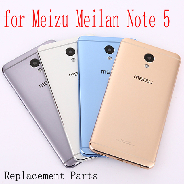 For Meilan Note5 Battery cover original Housing Replacement Parts Metal back Battery Cover for Meizu Meilan Note 5 / M5 Note