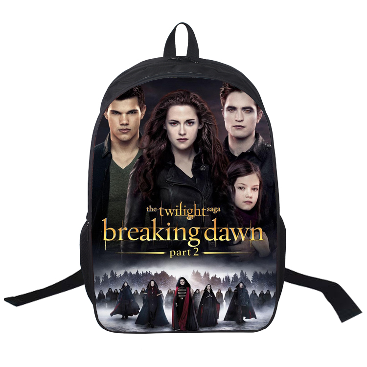 16 Inch Twilight Backpack Customized Double Zipper Bag Mochila Feminina School Bag Mujer Mochila Teenage Gift