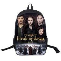 16 Inch Twilight Backpack Customized Double Zipper Bag Mochila Feminina School Bag Mujer Mochila Teenage Gift