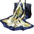 Cheap Square Lmitated Tippet Silk Scarf ,90x90cm Women Satin Pashmina,Fashion Polyester Ladies Shawls And Scarves FJ001
