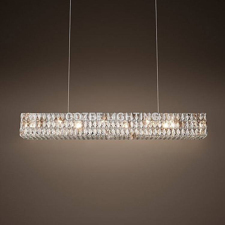 Modern luxury crystal chandelier lighting linear cristal candle chandeliers hanging light for - Crystal hanging chandelier ...