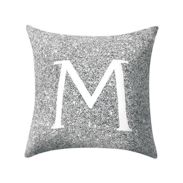 45x45cm Alphabet Cushion Cover