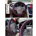 New Faux leather Anti-Slip Steering wheel covers Hubs Stretch Black Gray Beige Car Accessories Black 38cm hot sale Free Shipping