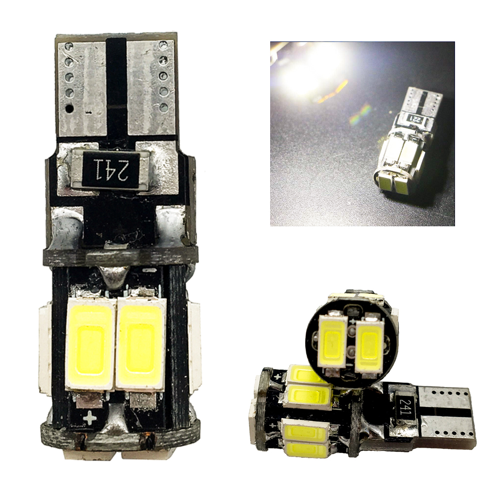 High T10 Canbus!! 10PCS t10 W5W 194 168 5630 10 SMD Can-bus Error Free 10 Led Interior LED Lights White 6000K Canbus 300LM cyan soil bay 1x canbus error free white t10 5630 6 smd wedge led light door dome bulb w5w 194 168 921 interior lamp
