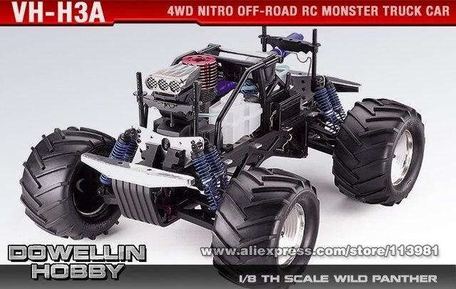 1/8 28cc kyosho giga brecher sf 4wd nitro Offroad rc monster truck ...