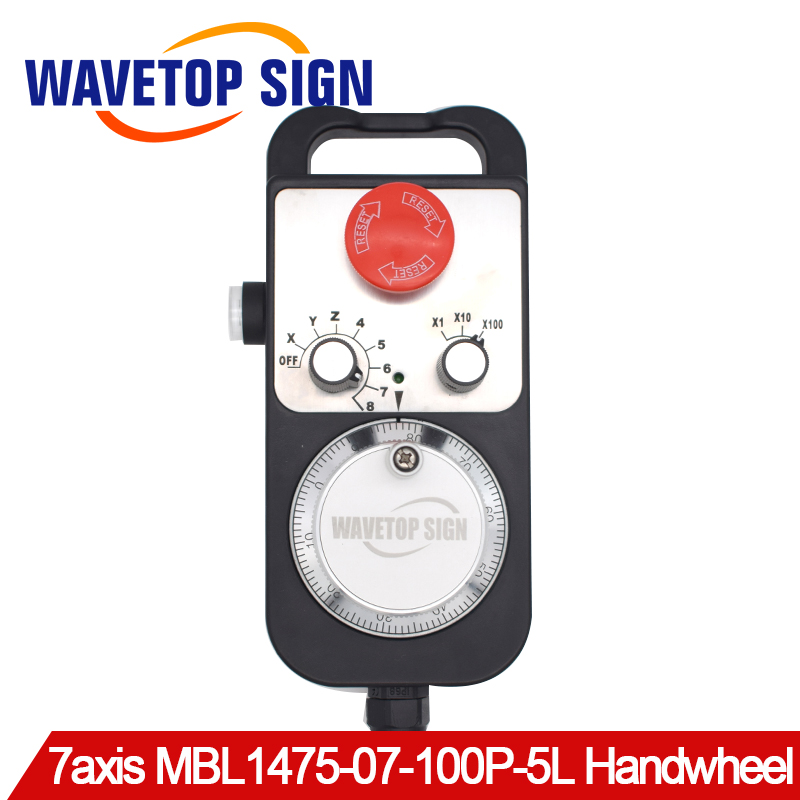 With Emergency Stop Self Reset Electronic Hand Wheel Machining Center Pulse CNC External Hand Wheel CNC MBL1475-07-100P-5L 8AxisWith Emergency Stop Self Reset Electronic Hand Wheel Machining Center Pulse CNC External Hand Wheel CNC MBL1475-07-100P-5L 8Axis
