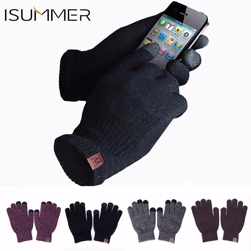 Isummer Winter Gloves Touch-Screen Mobile-Phone Fashion Men's Unisex NEW And W-Logo