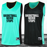 2016 New Basketball Jersey Suit reversible Basketball Uniforms Training Sets Double Sided Professional Custom Number&Logo&Name