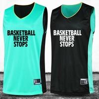 2016 New Basketball Suit Basketball Training Sets Double Sided Professional Customization Number Logo Name
