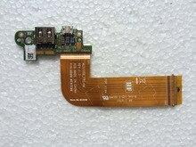 Оригинальный Новый Сила DC Jack USB Совета Flex кабель Для Dell место проведения 11 Pro 5130 Tablet USB Зарядное Устройство Доска MLD-DB-USB испытано хорошо