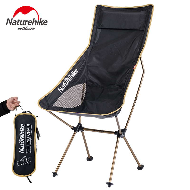 NaturehikePortable Ultralight Collapsible Moon Leisure Camping Chair with Bag for Outdoor Hiking Travel Picnic BBQ Beach Fishing campleader new outdoor camping car durable pc water bucket hiking fishing picnic handy collapsible water bottle container
