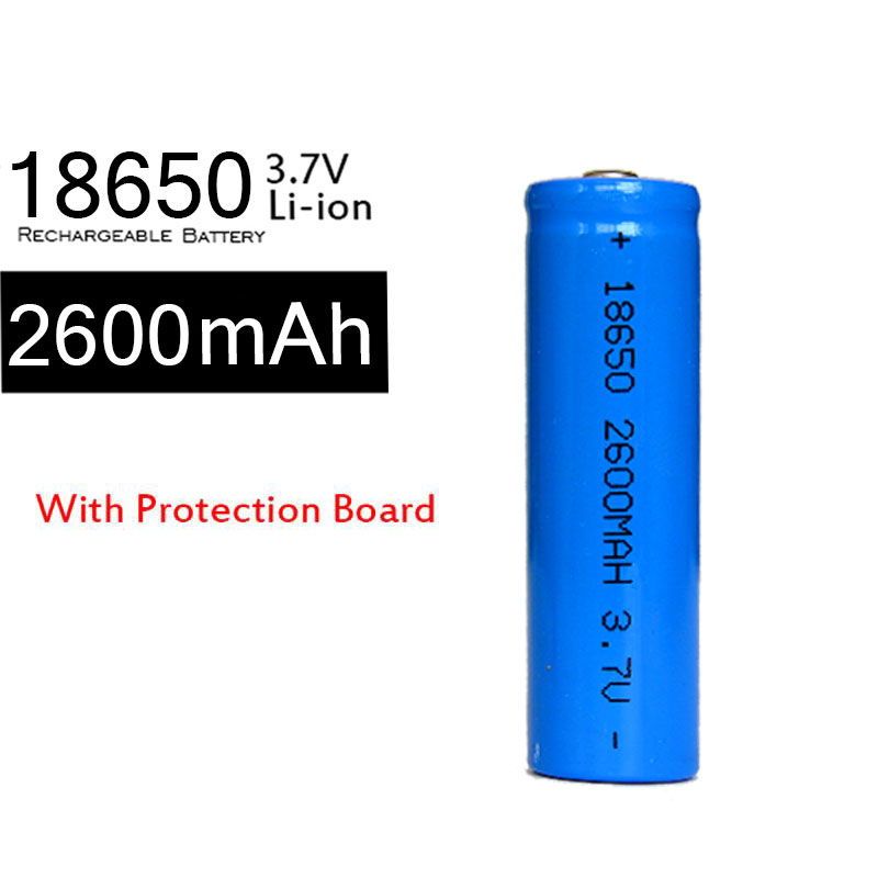 10pcslot Real Capacity Retail 18650 Battery 3.7V 2600mAh Rechargeable Li-ion Battery With The Protection Current Board
