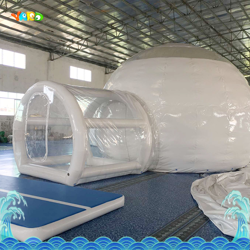 Funny Inflatable Tent with blower outdoors park indoor PVC white play house bubble tent commercial with toilet inflatable tent with blower for children funny outdoors park indoor pvc white play house bubble tent commercial with toilet