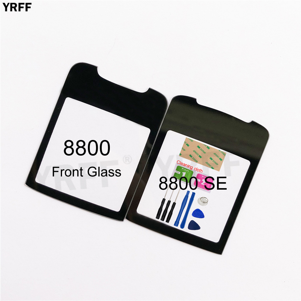 2.0'' Front Panel Glass For Nokia 8800 SE Front Glass Screen Outer Glass Cover Panel Replacement