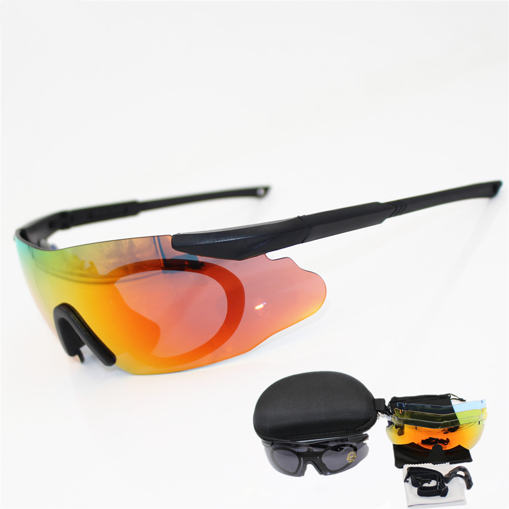 2018 Men Cycling Sunglasses Military 3/5 Lens ICE Safety Glasses Tactical Army Goggles TR90 Frame Outdoor Hunting Combat Wargame