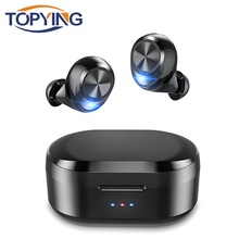 лучшая цена Noise Cancelling Gaming Headset HD Stereo Wireless Headphones Sport earphones TWS 5.0 Bluetooth With Charging Box Mic for iphone