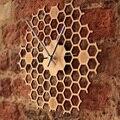 Креативные бамбуковые настенные часы простой современный дизайн соты натуральные деревянные настенные часы шестигранные настенные дизай...