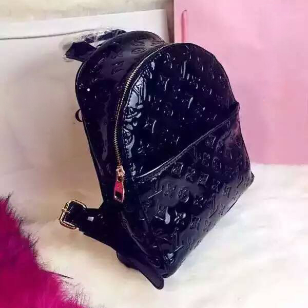 652a6b77c4 Fashion patent leather backpack high-quality luxury brand backpacks sports  woman backpack free shipping men leather backpack