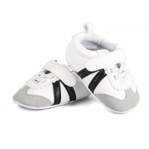 Newborn Baby Boys Girls Sports Shoes First Walkers Toddlers Casual PU Sneakers Sports Running Hook Loop Shallow Shoes 0-1Y Lahore
