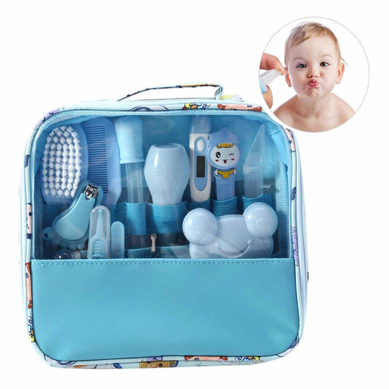 Multifunction Baby Healthcare Kit Newborn Kid Care Kit Baby Grooming Set Kit Thermometer Clipper Scissor Kid Toiletries for Baby