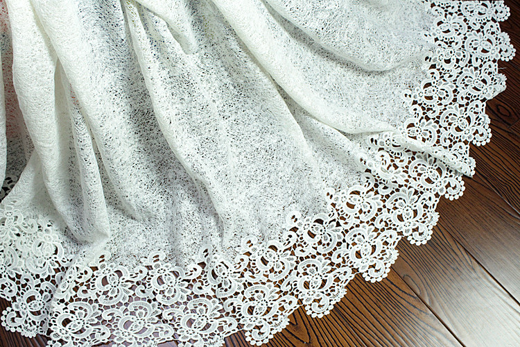 African Lace fabric Hot Sell Mesh 2018 New Arrival white Color african cord Lace guipure lace