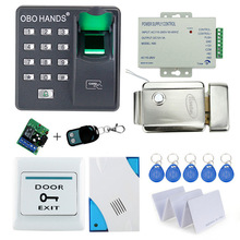 Cheap price of full Fingerprint door lock system RFID card+door bell+remote control for access control with remote control