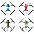 High Quality Fashion Waterproof Fiber Stickers Decal Skin Protector Film For DJI Mavic Pro Drone Toys Wholesale Free Shipping