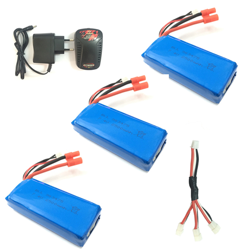RC Drone Battery 7.4V 2500mAh 25C Li-poly Battery for SYMA X8C X8W X8G X8HC X8HW X8HG RC Helicopter Quadcopter Spare Parts 7 color propeller protective frame for syma x8 x8c x8w x8g x8hc x8hw x8hg quadcopter rc drone spare parts protection accessories