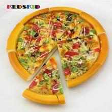 1 шт Заказная искусственная еда модель пицца Высокая искусственная еда модель пиццы моделирование блюдо пицца
