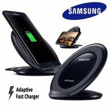 100% Оригинальные Samsung QI Беспроводной зарядное устройство для быстрой зарядки подставка для S6 край S7 S7 край S8 S8 + Примечание 5 EP-NG930 Бесплатная быстрая провод данных