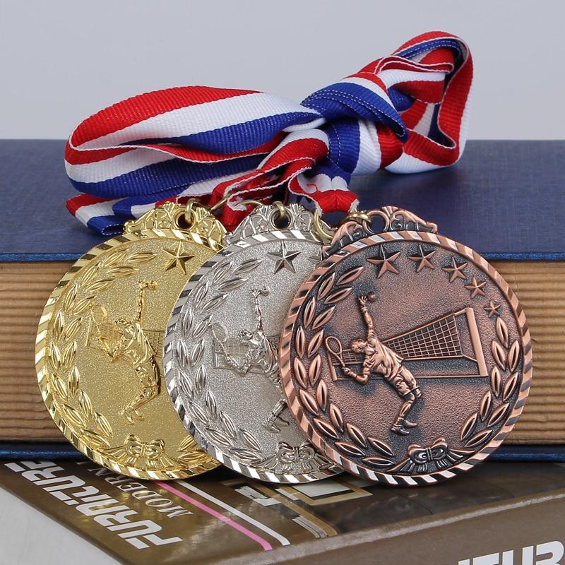 The Tennis Match Medals Souvenir Fans Zinc Alloy Official Sport Match Adward The School Sports Meeting Medal Award Free Shipping