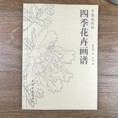 94 Pages A Hundred Pictures Of Flower In Four Seasons Tradition Chinese Line Drawing Painting Art Book