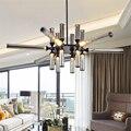 Современный светильник в скандинавском стиле  светодиодная стеклянная люстра  освещение для гостиной  отеля  лобби  подвесной светильник  к...