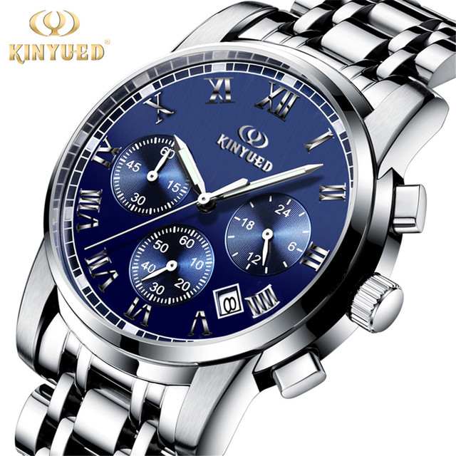 e371d9d00838f 2017 Fashion Simple Stylish Mens Watches Top Luxury Brand Watches Men  Stainless Steel Strap Quartz-Watch Blue Dial Clock Man