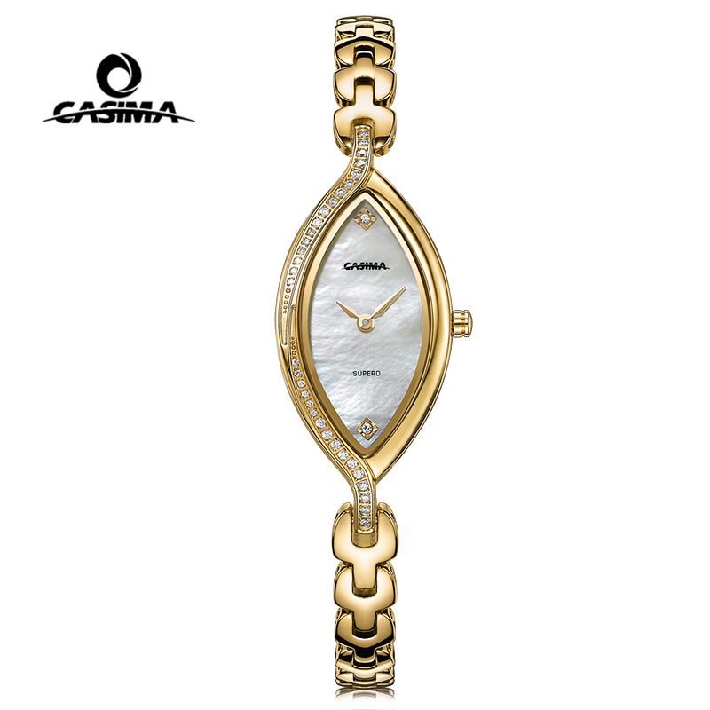 CASIMA Brand Women Watches Waterproof Fashion Casual Bracelet Quartz Ladies Wrist Watch Gold Silver Clock saat Relogio Feminino duoya fashion luxury women gold watches casual bracelet wristwatch fabric rhinestone strap quartz ladies wrist watch clock